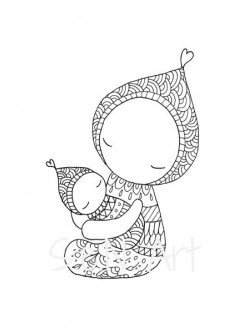 Obraz matka a dieťa 1