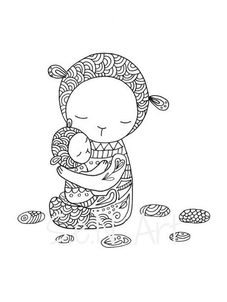 Obraz V matkinom náručí 2