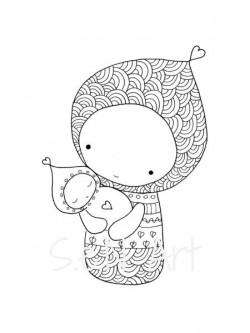 Obraz Matka a dieťa 2