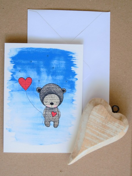 Pohľadnica Medvedík s balónikom