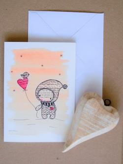 Pohľadnica Chlapček so srdiečkom