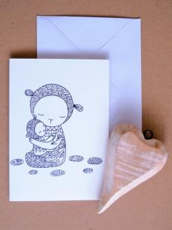 Pohľadnica V matkinom náručí 2