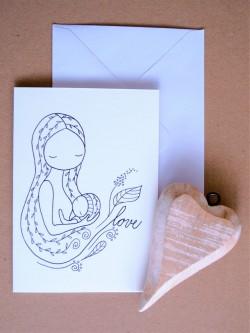 Pohľadnica Dojčenie 1