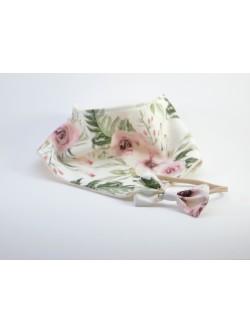 Set nákrčník a čelenka floral 1