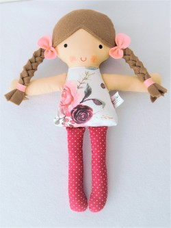 Látková bábika kvetinková Natálka