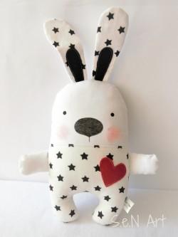 Čiernobiely hviezdičkový zajko