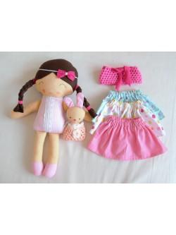 Veľká látková bábika Emka
