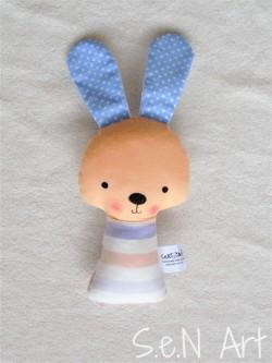 Hrkálka zajko modrý pásikový