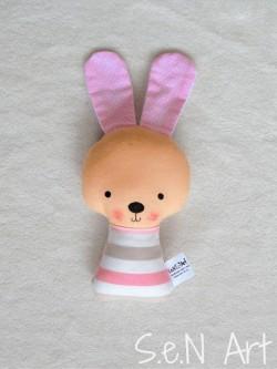 Hrkálka zajko ružový pásikový