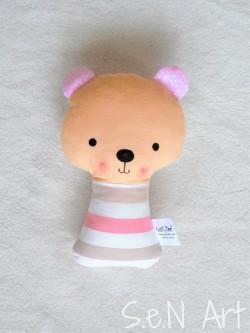 Hrkálka medvedík ružový pásikový